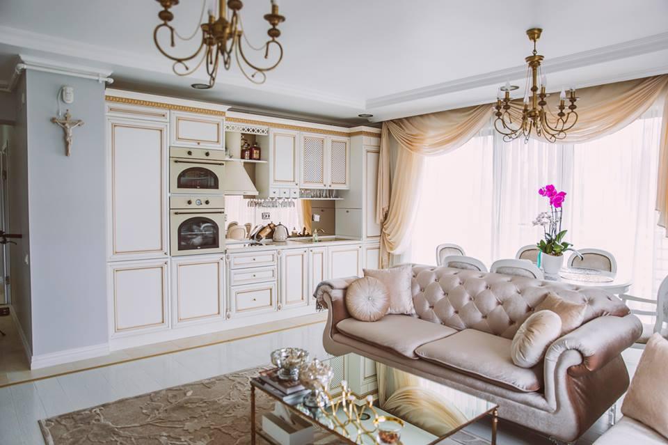 Amenajare de bucatarie in stil clasic realizata de UGinteriors pentru un apartament din Bucuresti