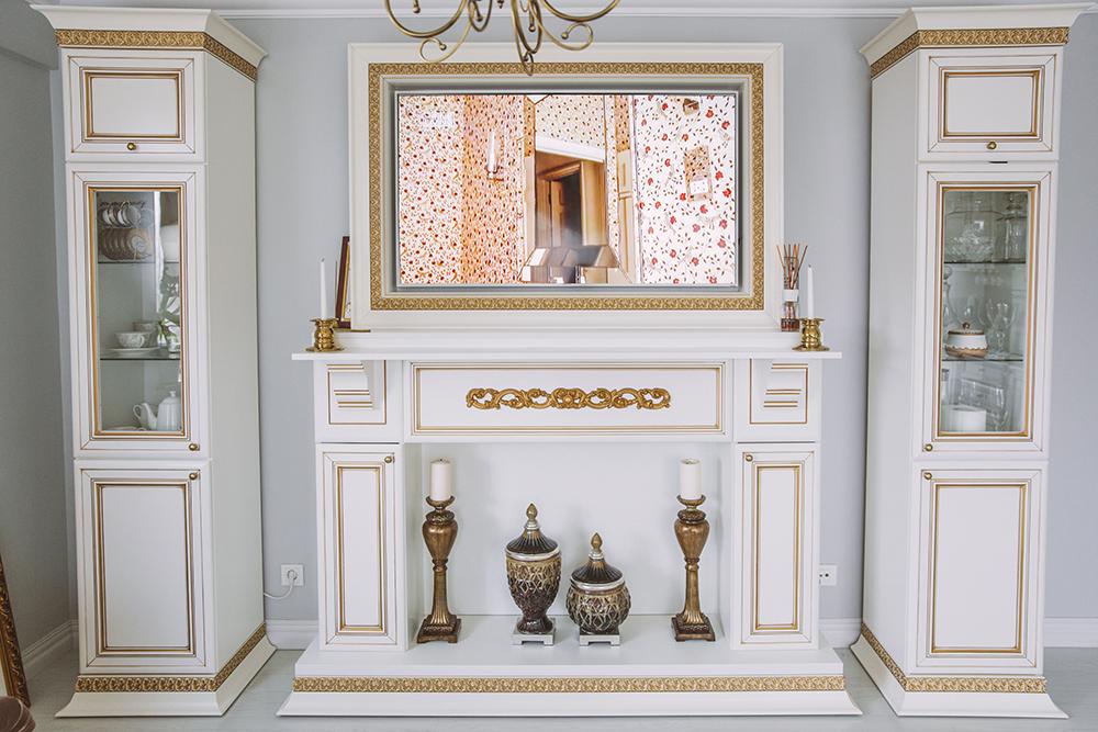 Amenajare de living in stil clasic realizata de UGinteriors pentru un apartament din Bucuresti