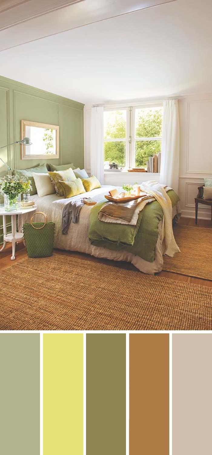scheme de culori pentru dormitor dormitor verde