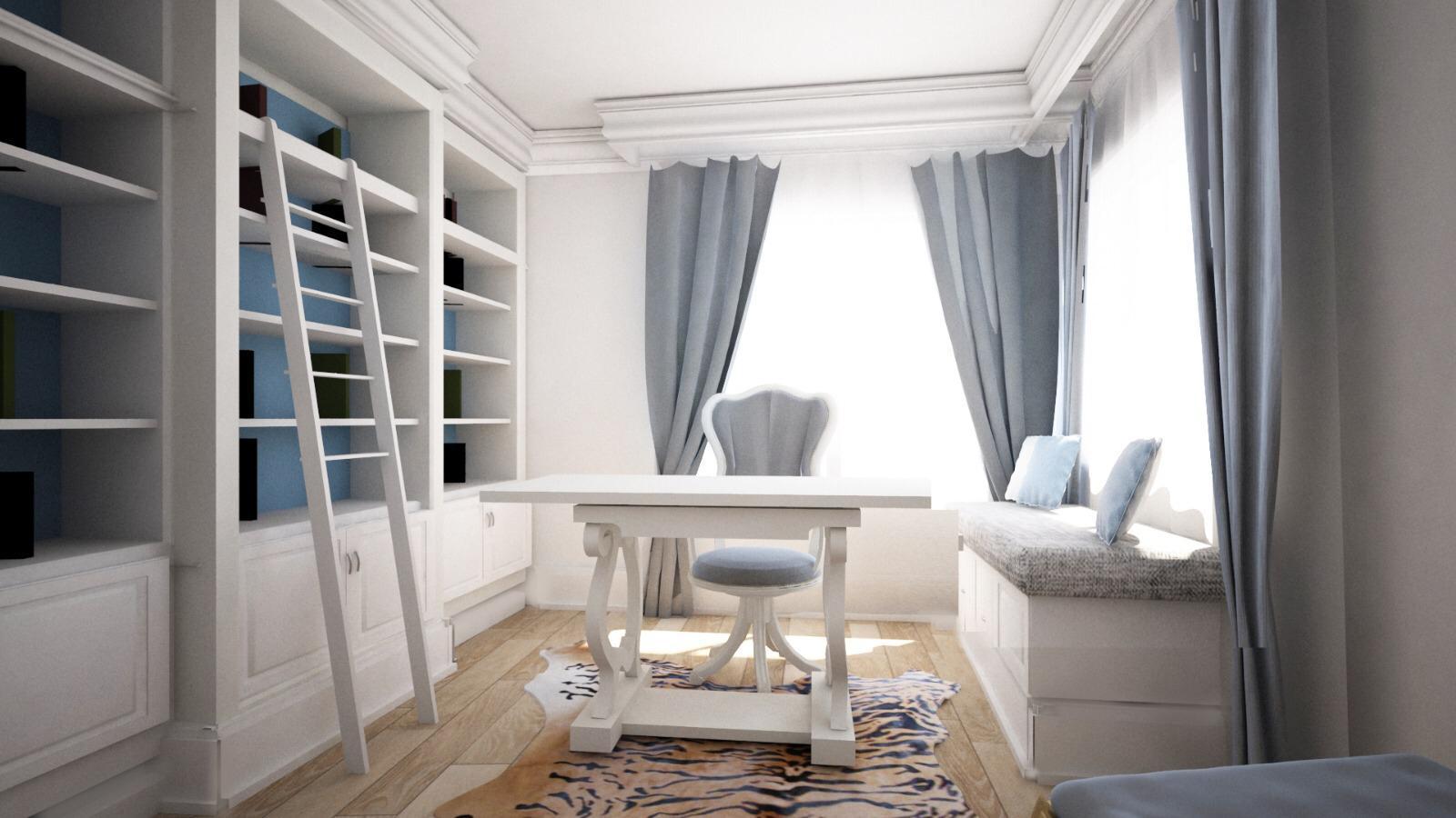 biroul de acasă amenajare clasică