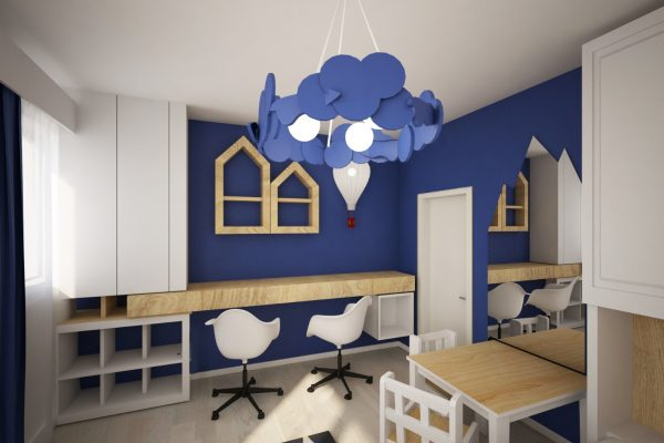 apartament colorat birou copii