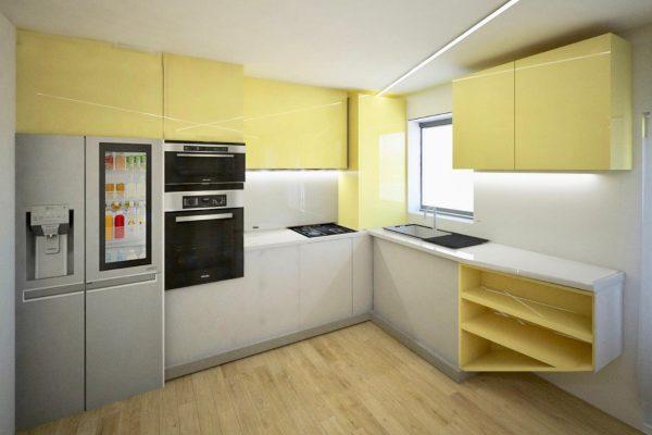 apartament colorat bucatariee