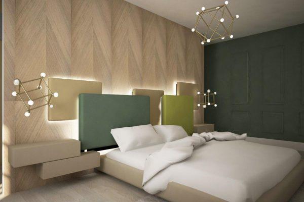 apartament colorat dormitor verde
