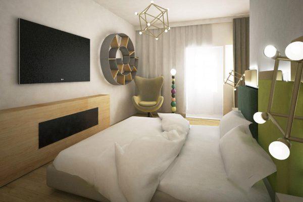 apartament colorat dormitor